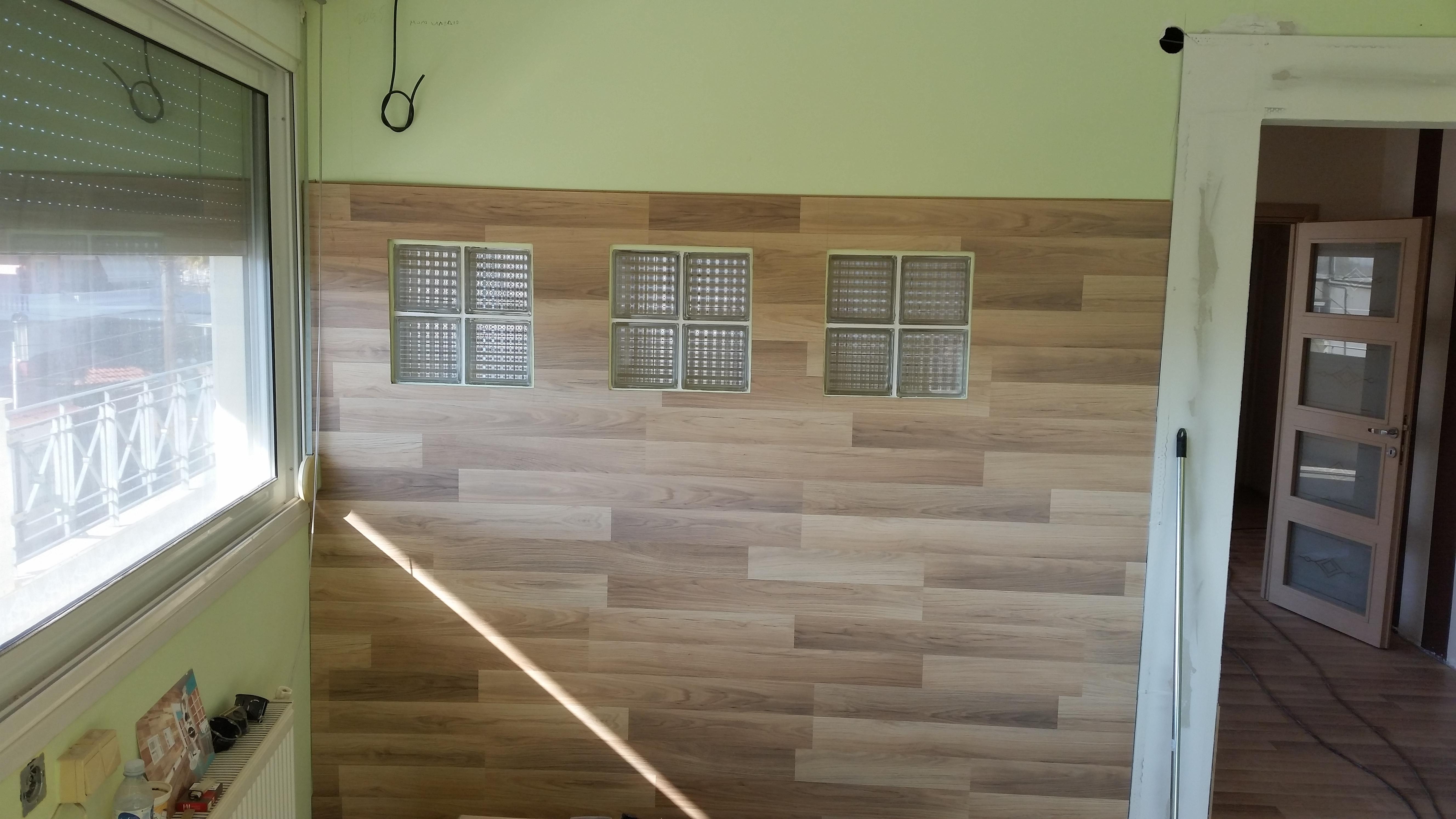 Κάθετη εφαρμογή λαμινειτ - laminates on the wall